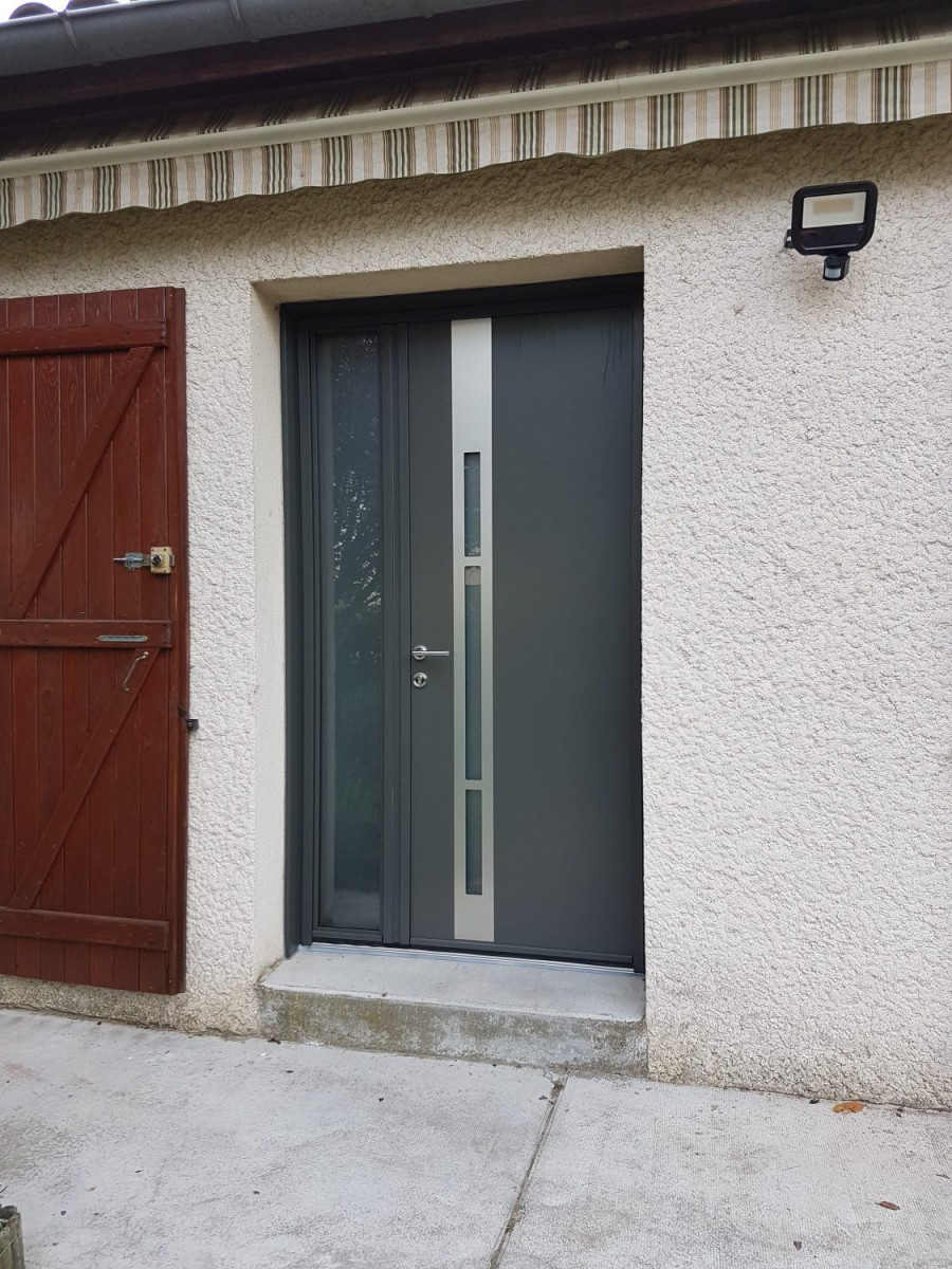 Porte D Entrée Moderne porte d'entrée design à toulouse - ca renovation toulouse