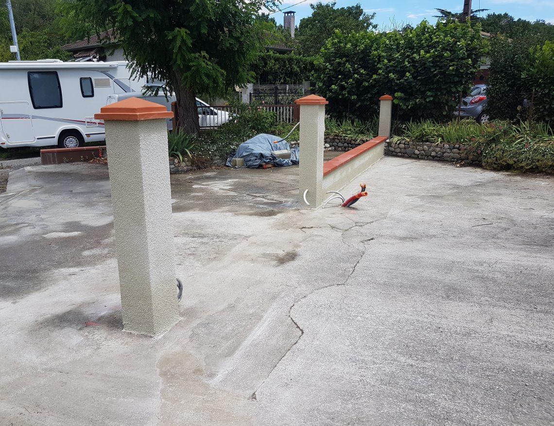 muret en beton