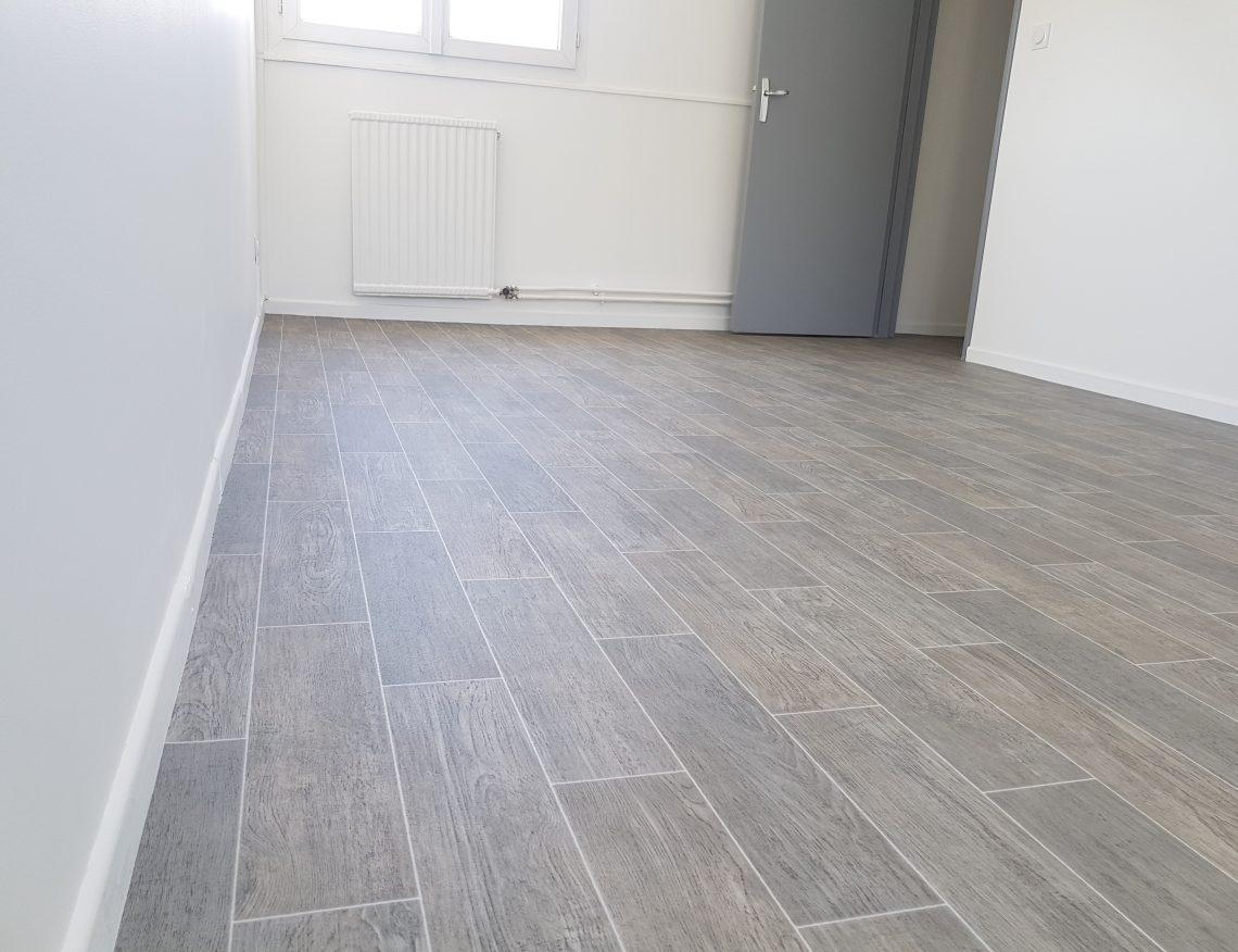 parquet design en bois gris
