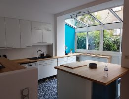cuisine design avec veranda