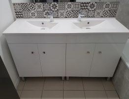 meuble de salle de bain avec evier double vasques moderne