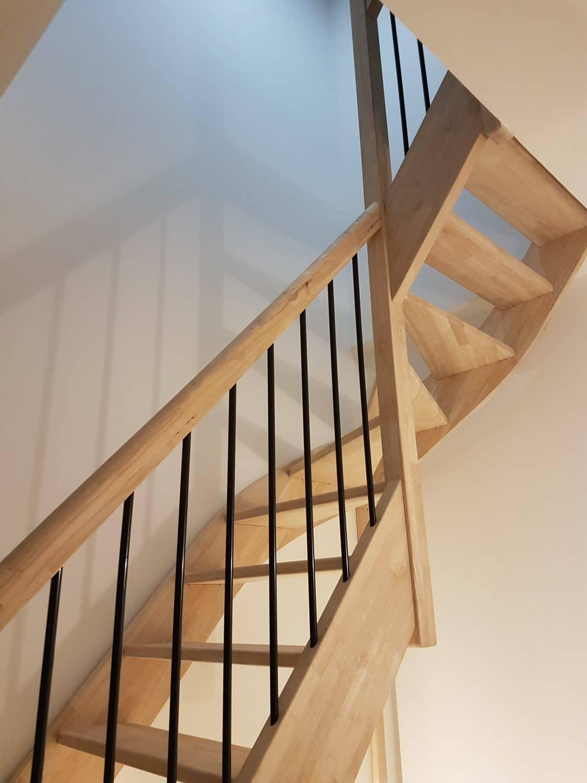 Escalier Interieur Maison Moderne escalier quart tournant en bois - ca renovation toulouse