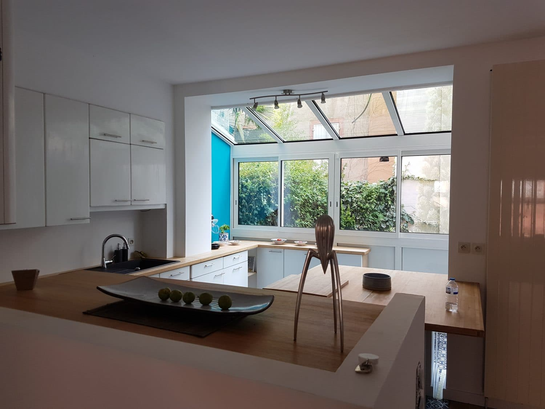 cuisine moderne avec veranda