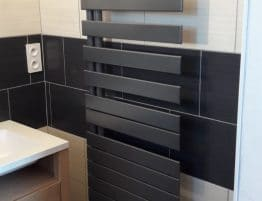 chauffe serviette moderne gris