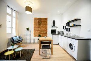 salon avec cuisine design